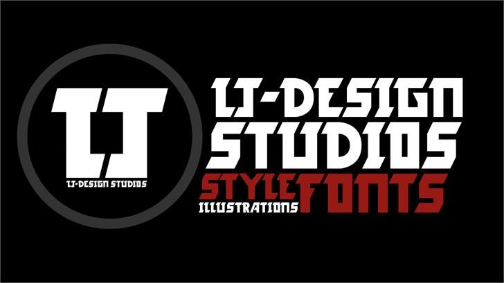 LJ-Design Studios Logo Font screenshot poster