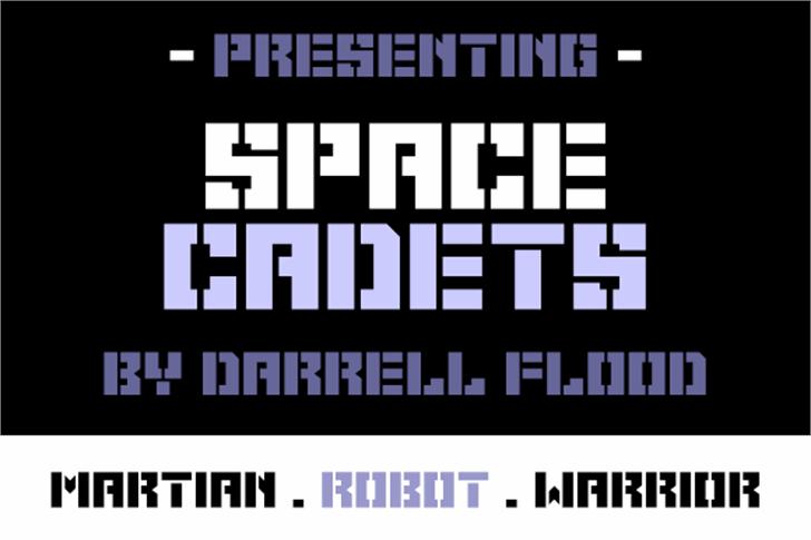 Space Cadets Font poster design