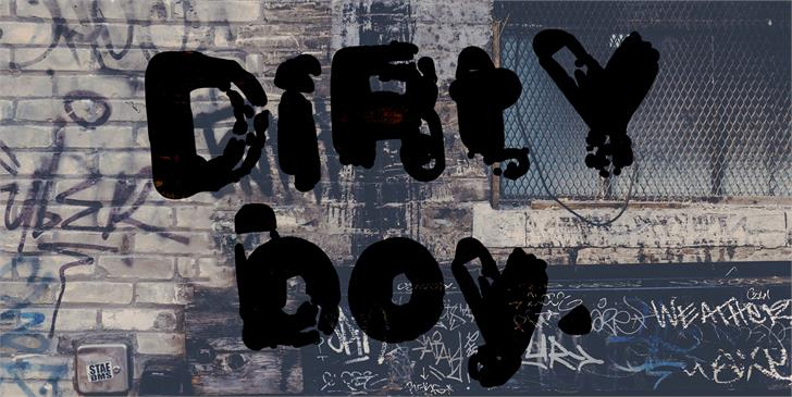 Dirtyboy Demo font by GraphicsBam