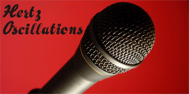Hertz Oscillations Font microphone design