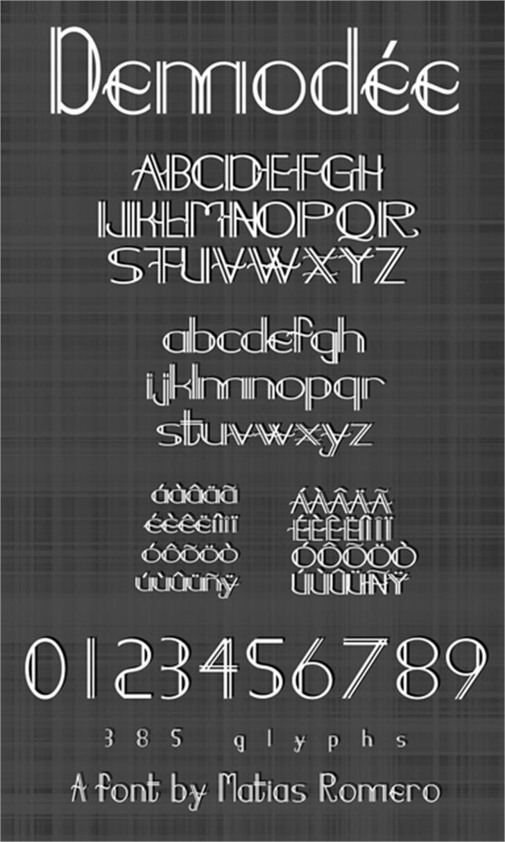 Demodee Font text typography