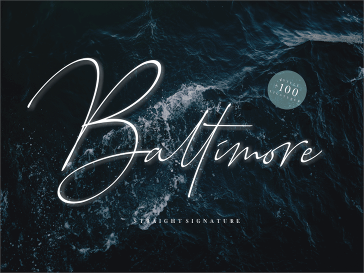 Baltimore Bold font by Sronstudio