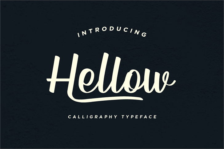 Hellow DEMO Font design text