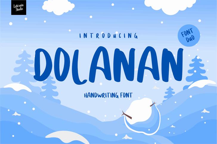 DOLANAN Font text
