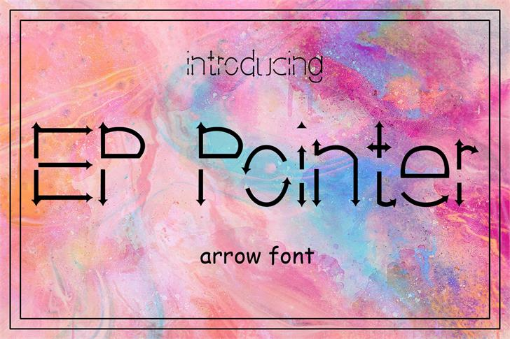 EP Pointer Font text poster