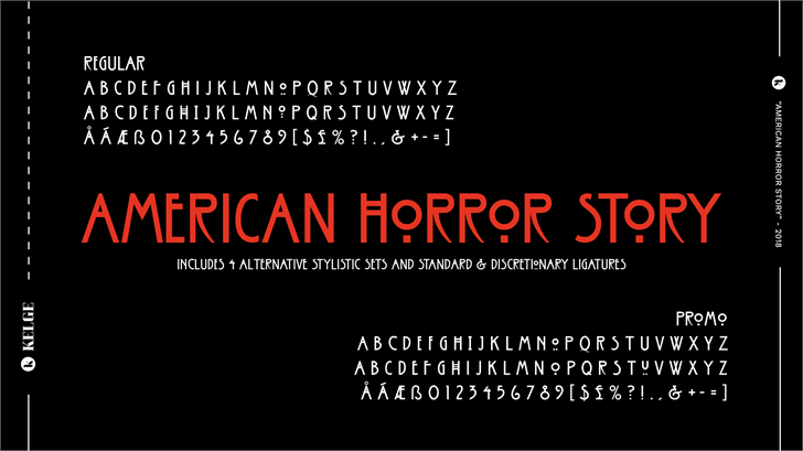 American Horror Story Font screenshot design