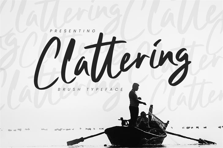 Clattering Font design person