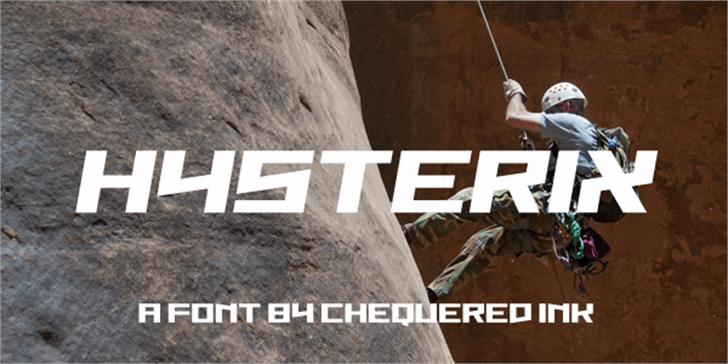 Hysterix Font screenshot design