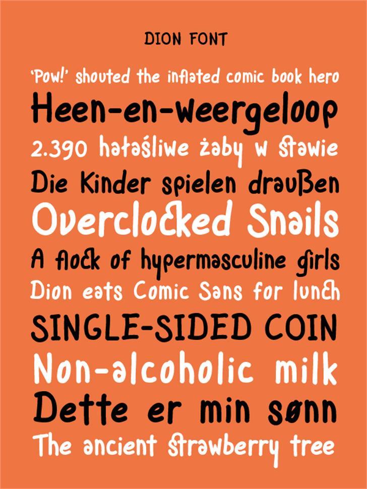 Dion Font screenshot font