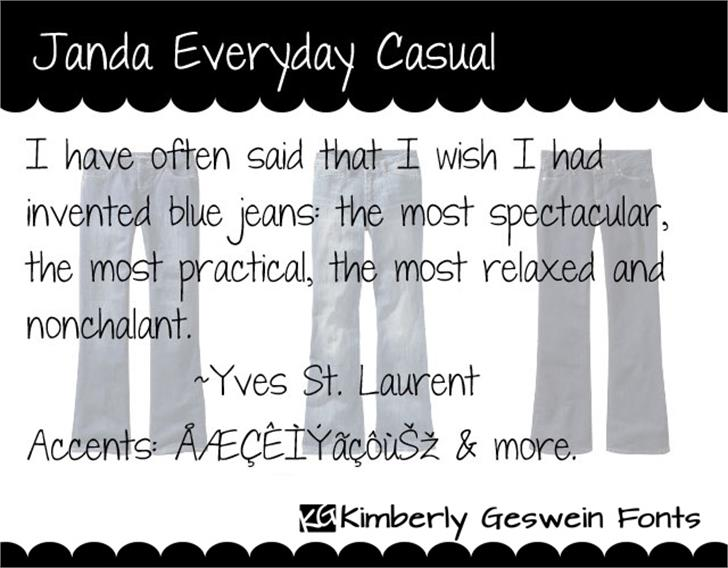 Janda Everyday Casual Font text handwriting