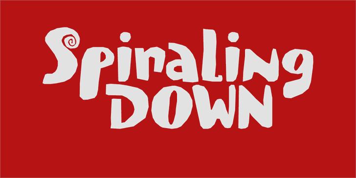Spiraling Down DEMO Font design graphic