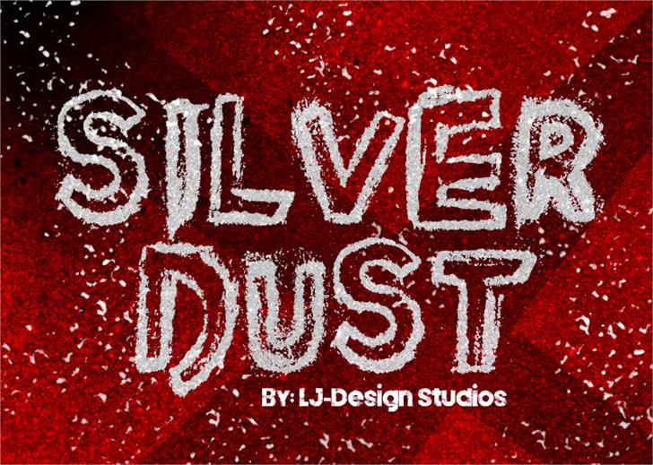 Silver Dust Font stop sign