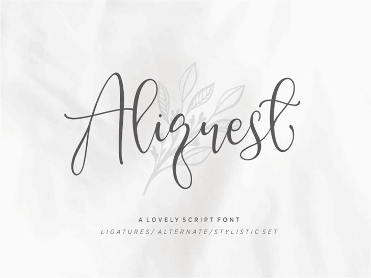 Aliquest Font handwriting design