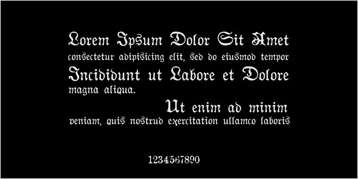 AuldMagick Font screenshot font