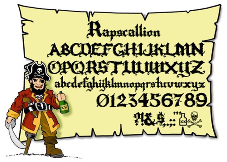 Rapscallion font by Ryan Splint