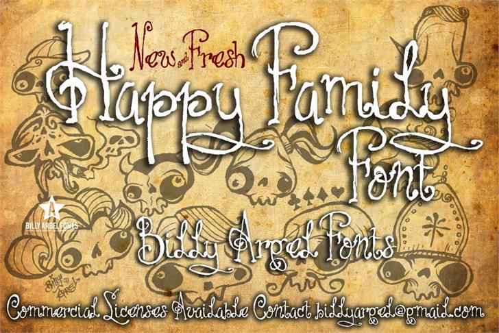 HAPPY FAMILY font by Billy Argel