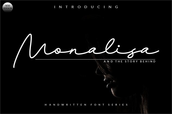 Monalisa Script Font poster