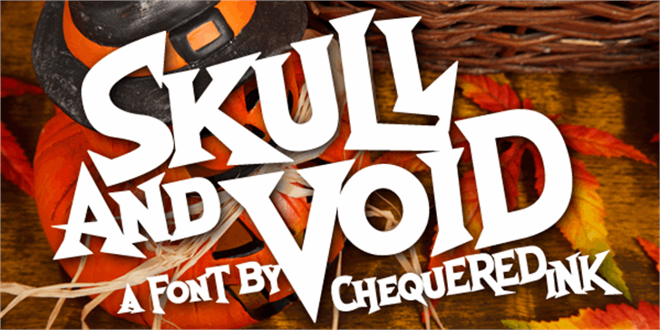 Skull And Void Font poster design