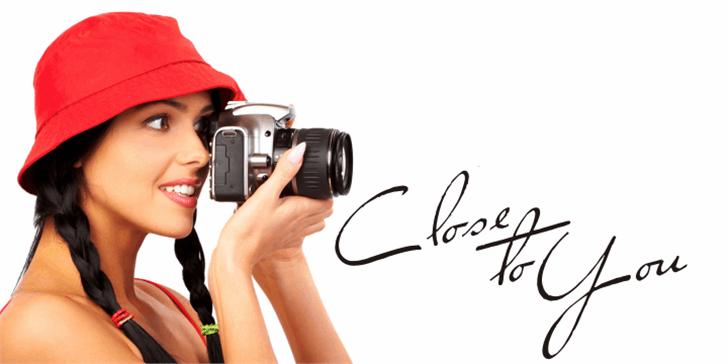 Close to You Font person camera