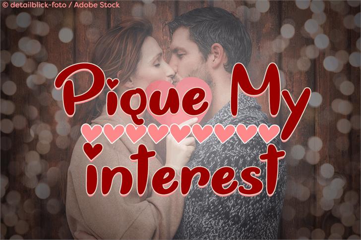Pique My Interest font by Misti's Fonts