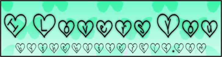 ILoversYou Font screenshot cartoon