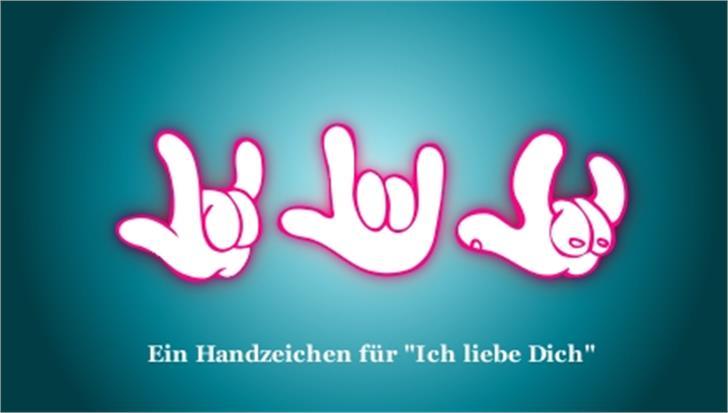 ZOE ILYhands Font design graphic