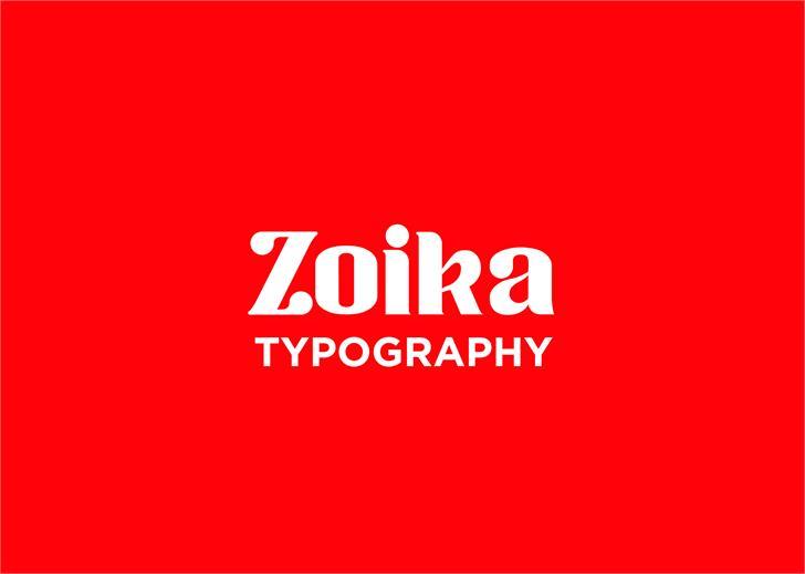 Zoika font design