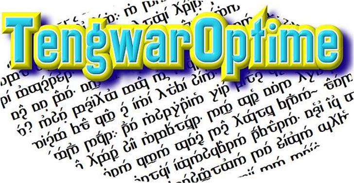 TengwarOptime Font screenshot text