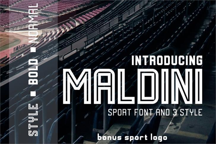 MALDINI Font poster