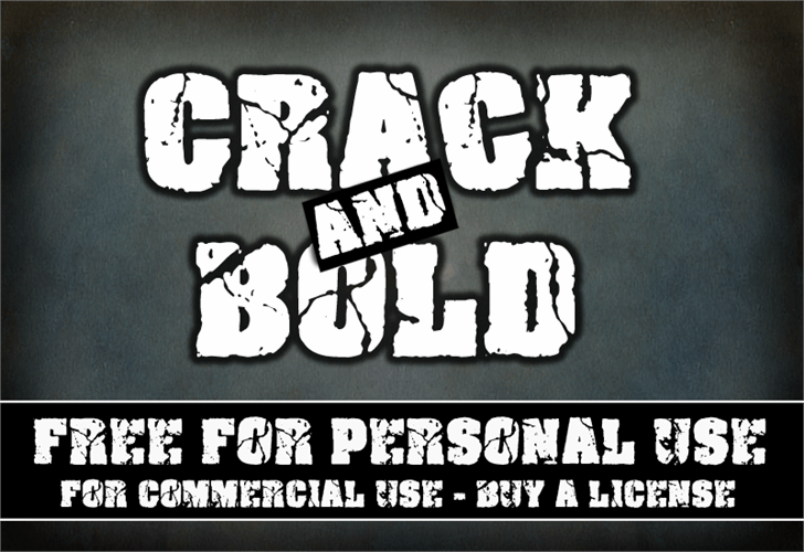 Crack and Bold Font cartoon drawing