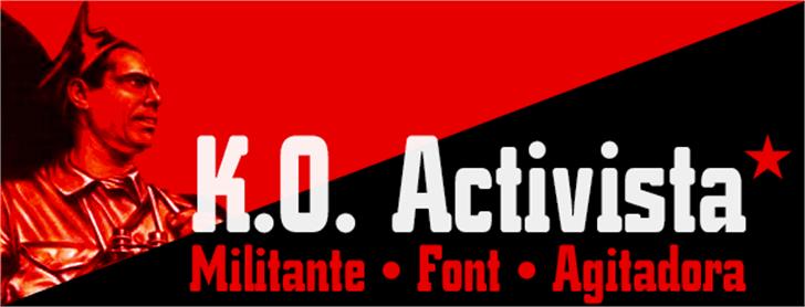 K.O. Activista* Font graphic text