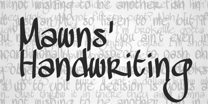 MAWNS Handwriting  Font handwriting text