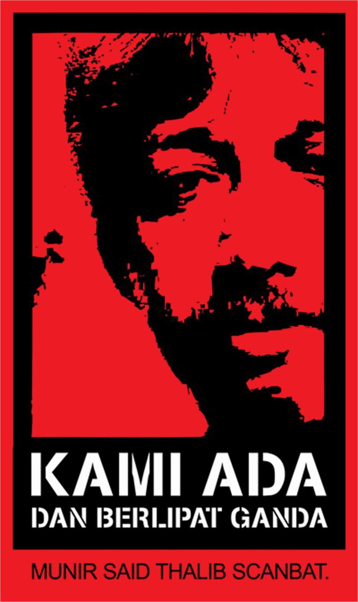 Munir Font poster text