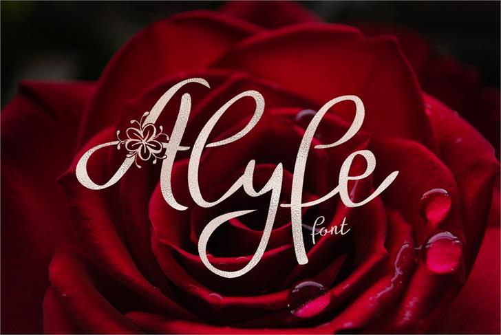 Alyfe Font red carmine