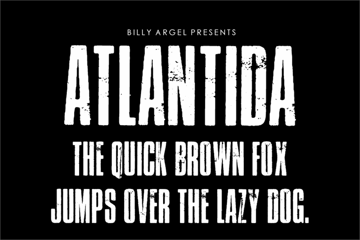 Atlantida PERSONAL USE Font poster text