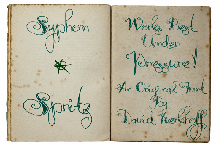 Syphon Spritz Font handwriting text