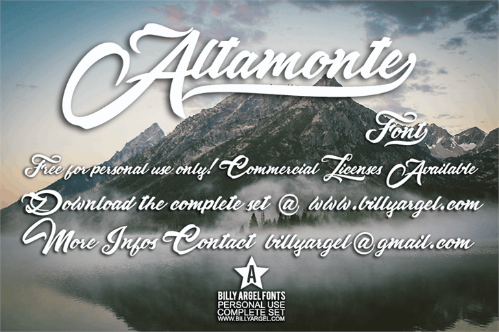 Altamonte Personal Use font by Billy Argel