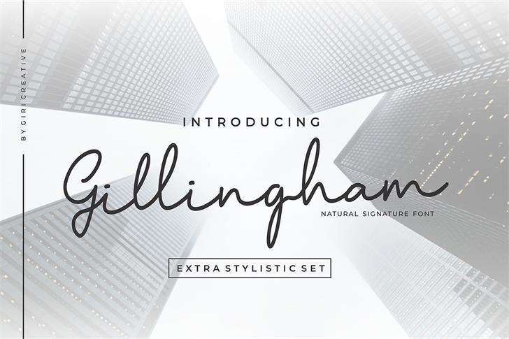 Gillingham Font poster