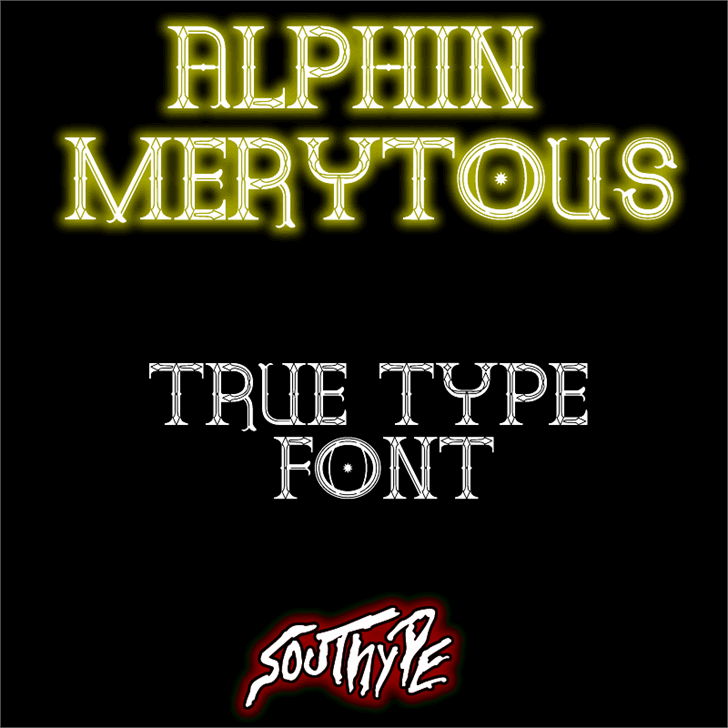 Alphin Merytous St Font text typography