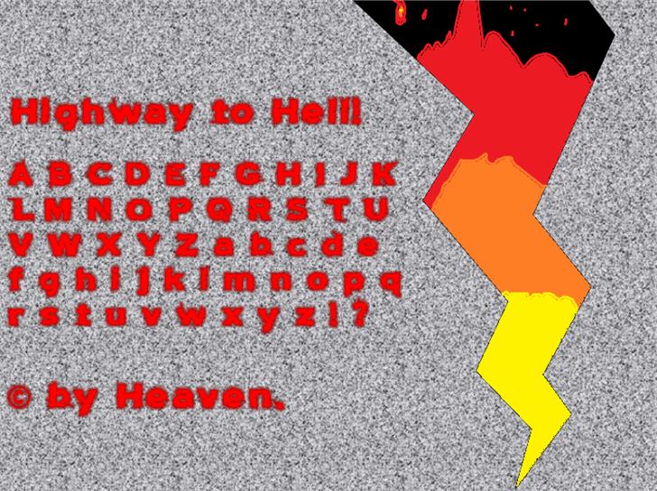 Highway to Hell! Font screenshot vector graphics