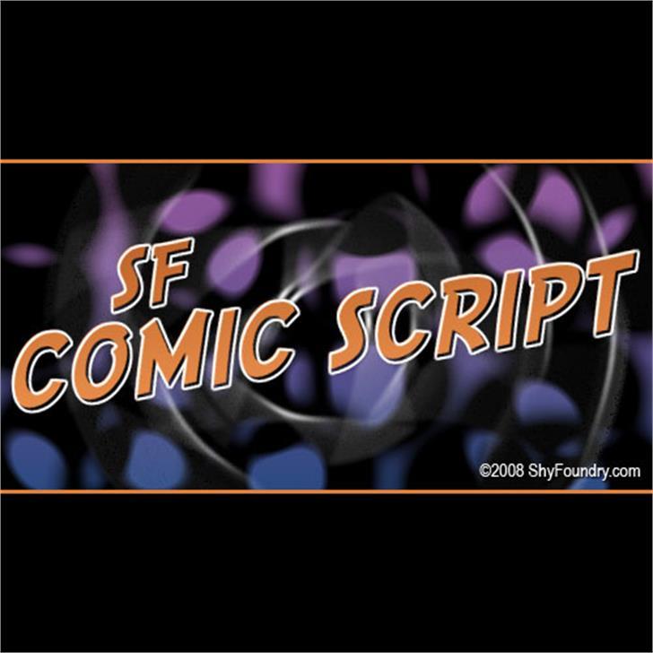 SF Comic Script Font screenshot text