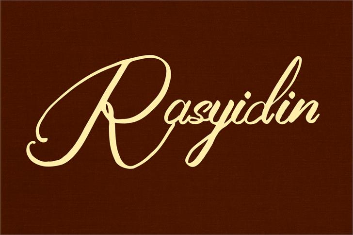 Rasyidin Font handwriting design