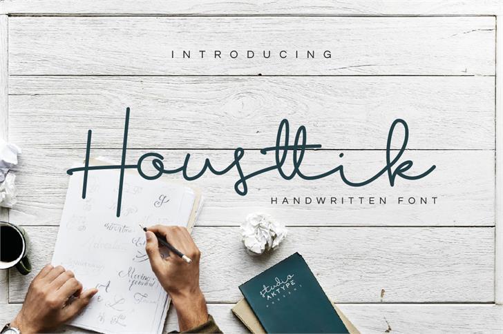 Housttik Personal Use Font handwriting text