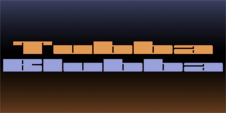 Tubba Blubba Font screenshot design
