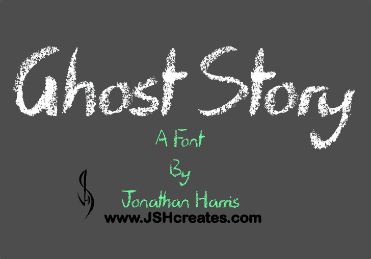 Ghost Story Font design handwriting
