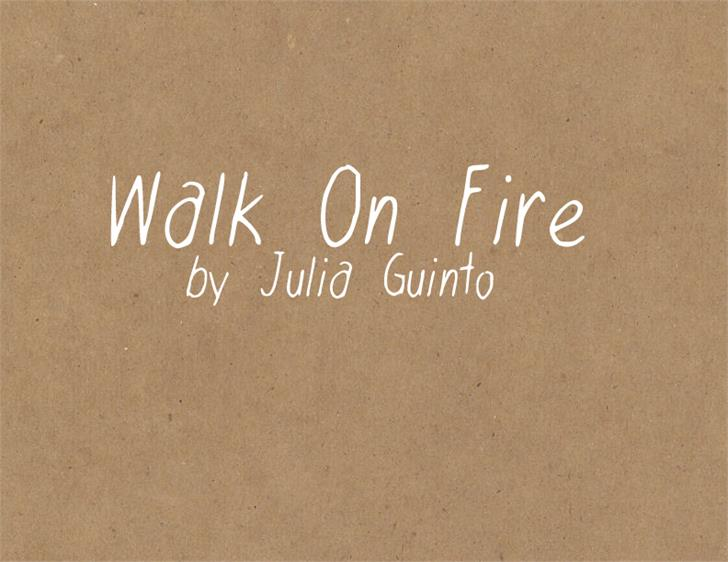 WalkonFire Font handwriting text