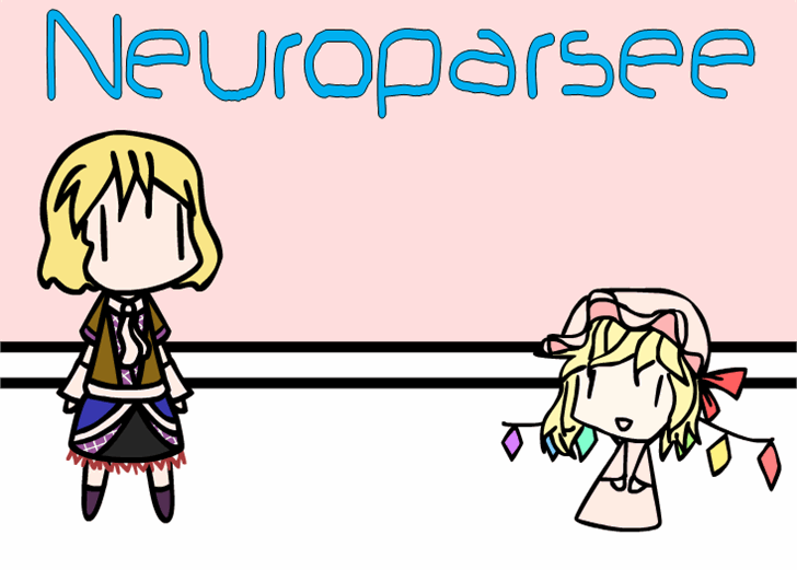 Neuroparsee Font cartoon drawing