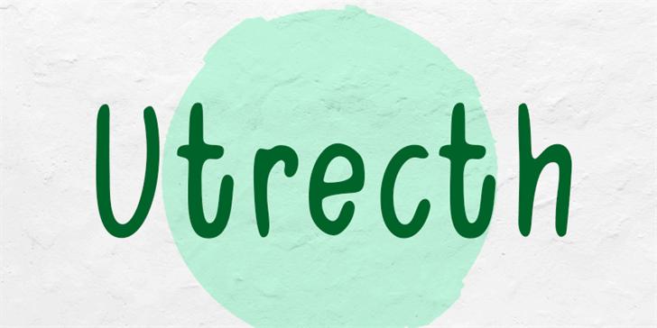 Utrecth Font poster
