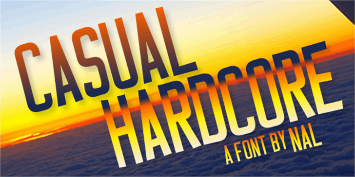 Casual Hardcore Font poster book