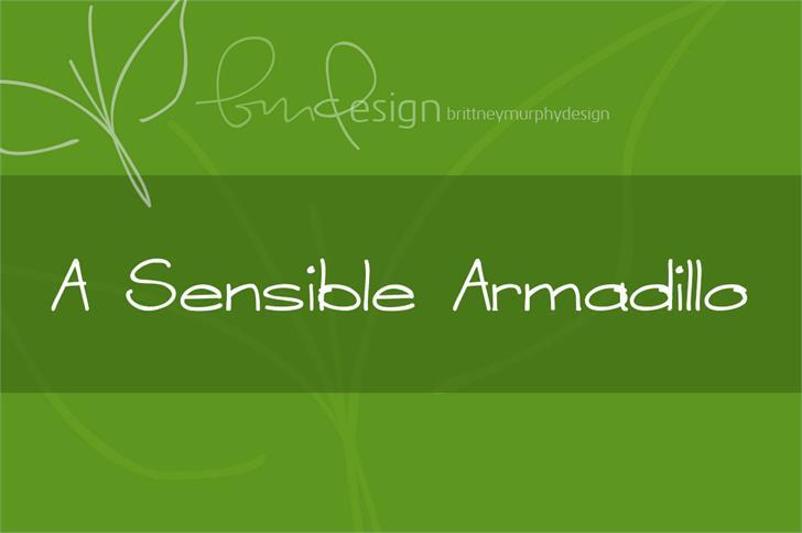 A Sensible Armadillo Font screenshot green